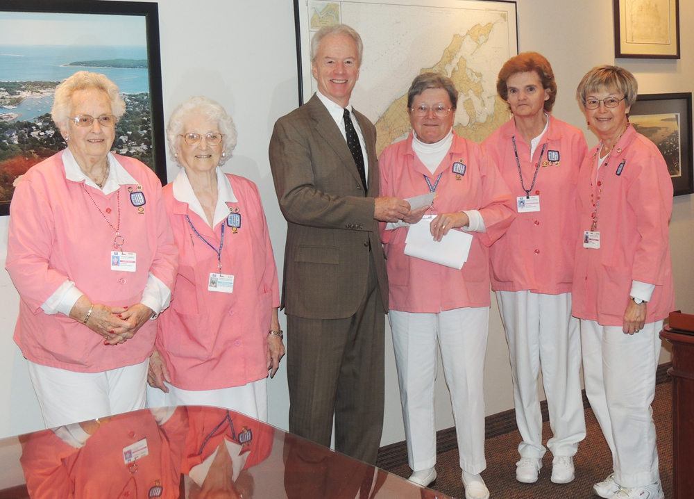 ELIH Auxilians Nora Busch, Toni DeMeo; Paul Connor, President and CEO;  Alice Roggie, Auxiliary President; Margaret Flanagan and Iris Begora, Auxiliary Treasurer. (Credit: Courtesy)