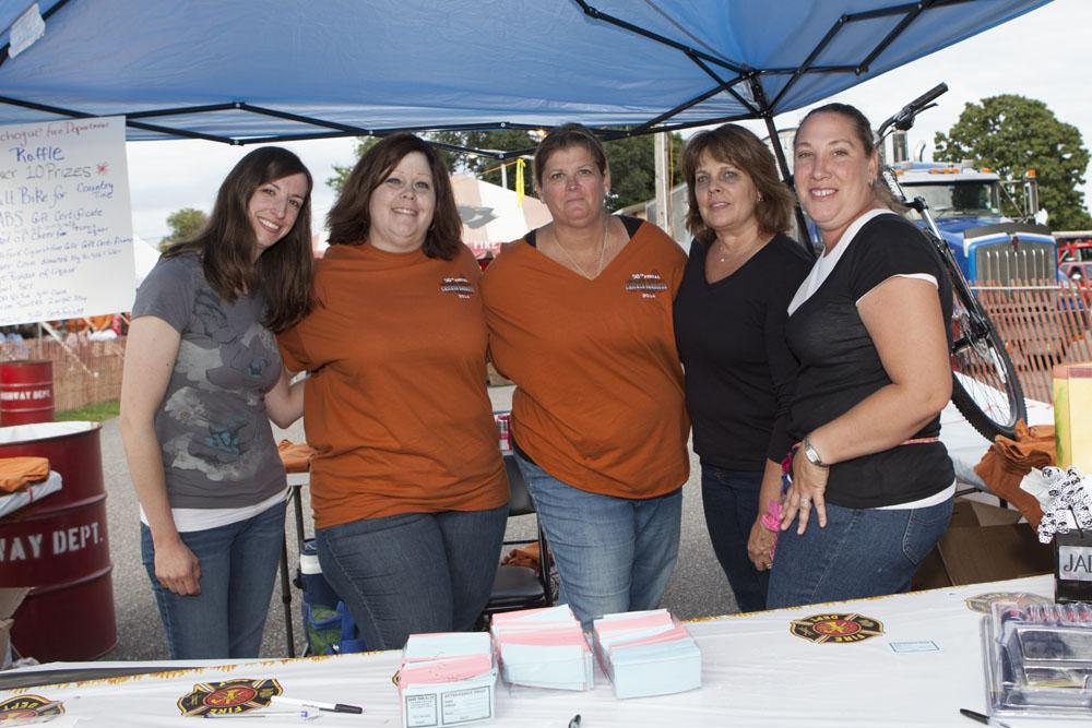 Volunteers (from left) Lauren McCaffery, Jennifer Zuhoski, Patty Burns, Geri Berkoski and Tonya Witczak. (Credit: Katharine Schroeder)