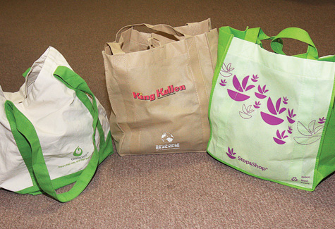 Recycylable grocery bags. (file photo)