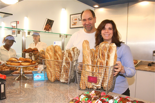 BARBARELLEN KOCH FILE PHOTO | Blue Duck Bakery owner Keith Kouris (left) confirmed this week he's looking to open up his fourth location downtown Greenport.