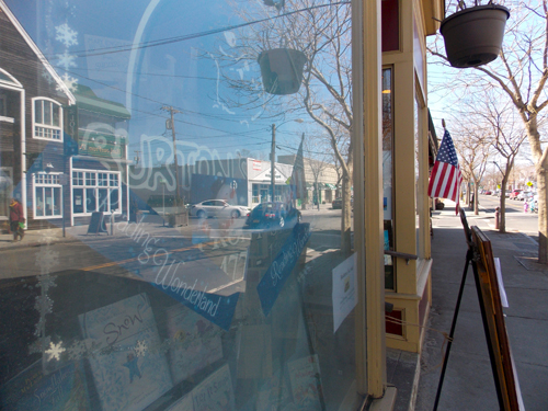 Burton's Bookstore, on Front Street in Greenport, is up for sale. (Credit: Joseph Pinciaro)