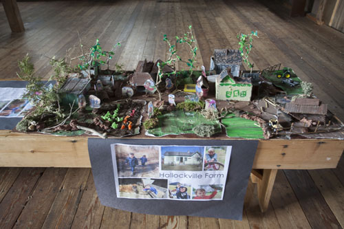 Students from the Peconic Community School constructed a replica of Hallockville Museum Farm. (Credit: Katharine Schroeder)