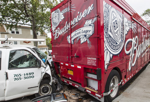 Southold police, Budweiser truck