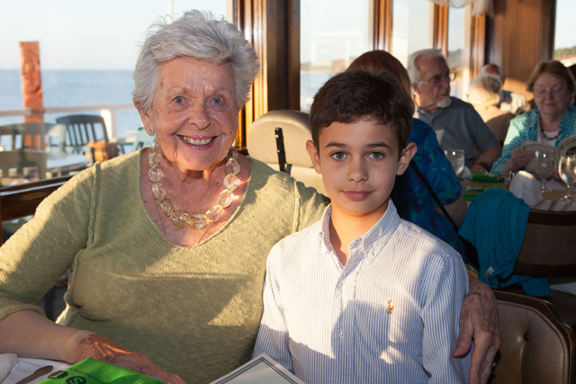 Phyllis Noncarrow of Cutchogue with Brian Noncarrow, 10, of Peconic.