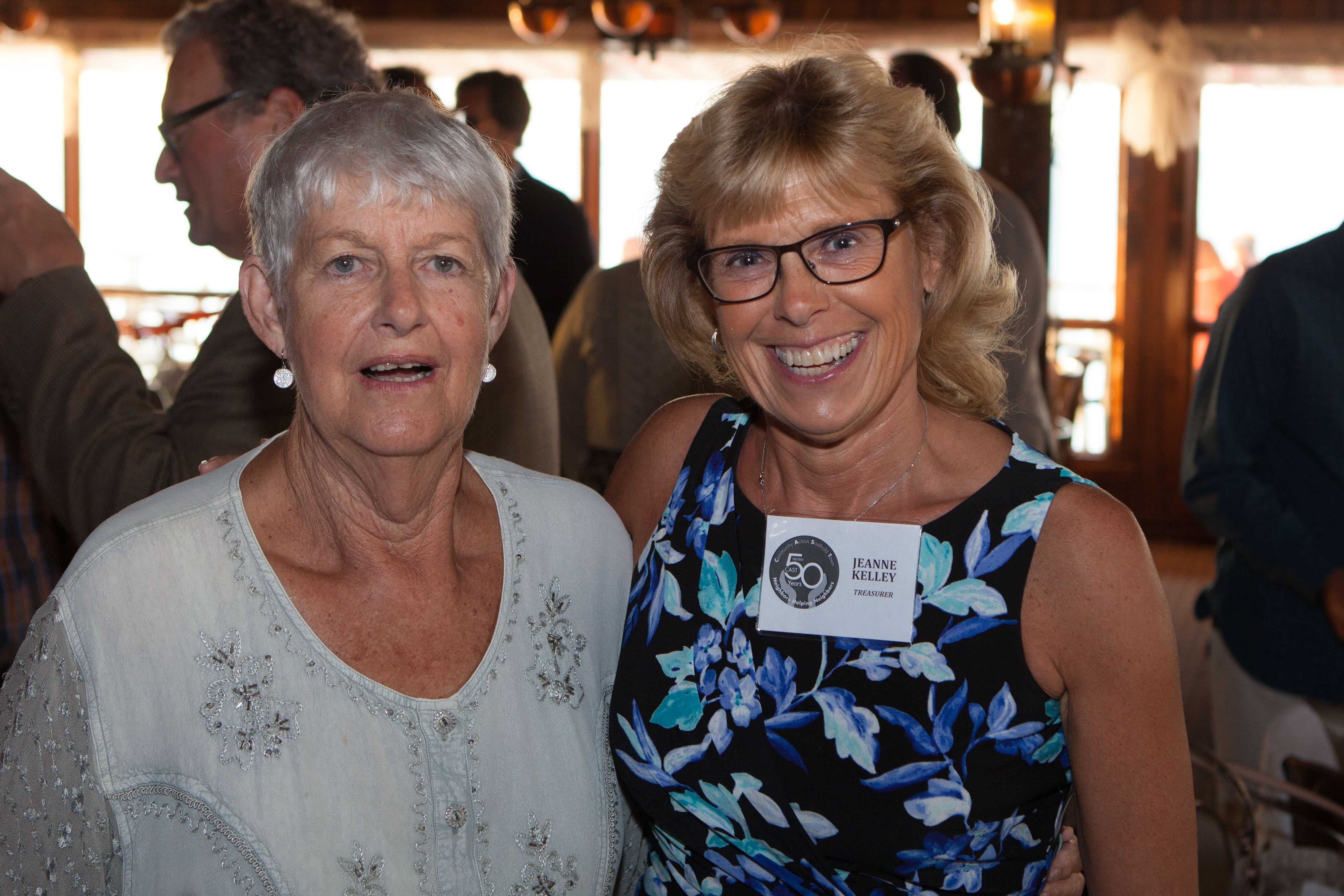 Former CAST Board of Directors president Peggy Murphy, left, with present CAST treasurer Jeanne Kelley.
