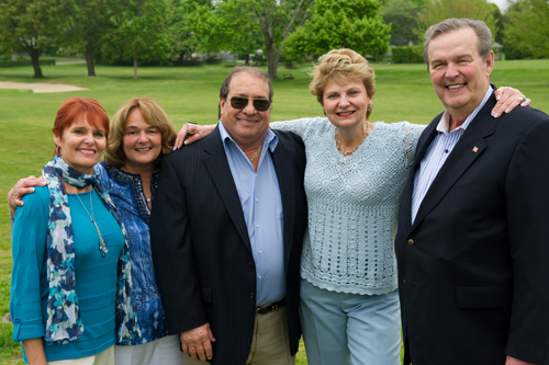 ELIH Golf Classic Honorees, Kathy Claudio-Wyse, Beatsy Claudio Tuthill, Jerry Tuthill, Janice and Bill Claudio, Jr. of Claudio Five Corp. (Credit: Courtesy)