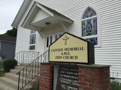 Clinton Memorial AME Zion Church in Greenport. (Credit: Paul Squire)