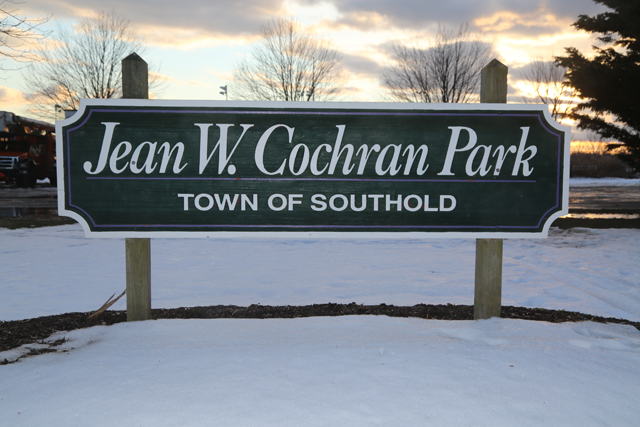 The park in Peconic named in honor of Jean Cochran. (Credit: Nicole Smith)