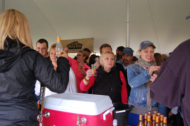 The Pour the Core hard cider festival at Peconic Bay Winery in Cutchogue in October attracted a big crowd. (Credit: Vera Chinese)