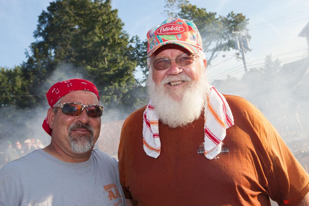 Henry Romanowski, left, with Ev Glover. (Credit: Katharine Schroeder)