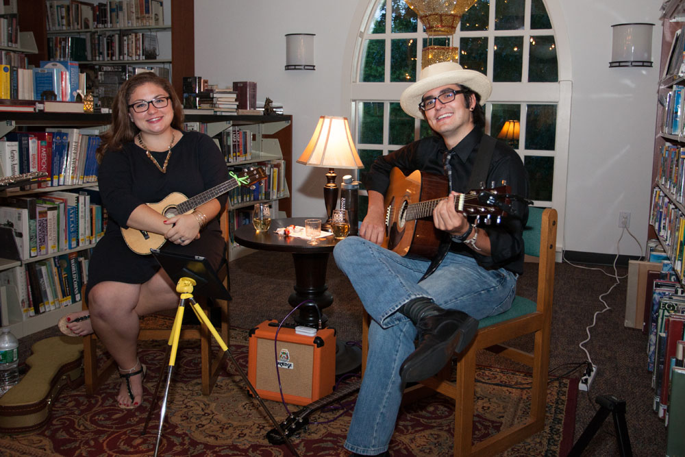 Mary Bartolotta and Andrew Janes perform upstairs. (Credit: Katharine Schroeder)