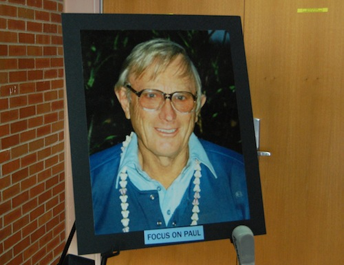 Paul Stoutenburgh was honored on Saturday during a memorial service titled 'Focus on Paul.' (Cyndi Murray photo)