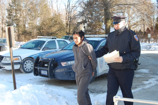 Jaime Contra-Quiroa was arraigned Friday on two felony rape charges. (Credit: Cyndi Murray)