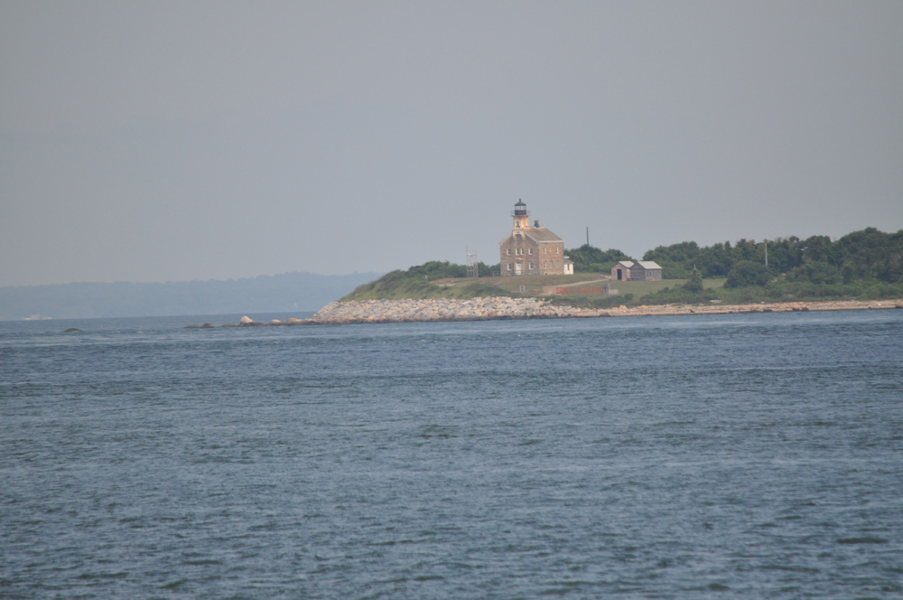 Plum Island Lighthouse is one of many spotted on the journey from the Plum Island Ferry Terminal to Fishers Island.