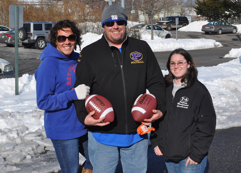 The winners of the annual kicking contest were Erin Doucett, Chris Doucett and Jen Delaney.