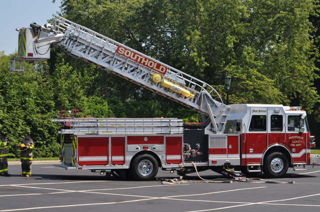 Southold's newest ladder truck. (Credit: Grant Parpan)