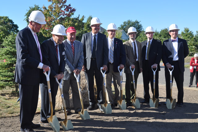 Peconic Landing officials were joined by elected officials at a groundbreaking ceremony Tuesday. (Credit: Cyndi Murray)