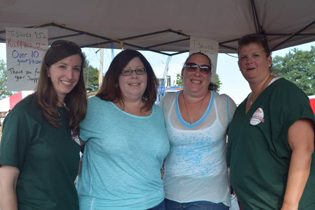 Lauren McCaffery, Jen Newhouse, Tonya Witczak and Patty Burns, all of Cutchogue. (Credit: Vera Chinese)