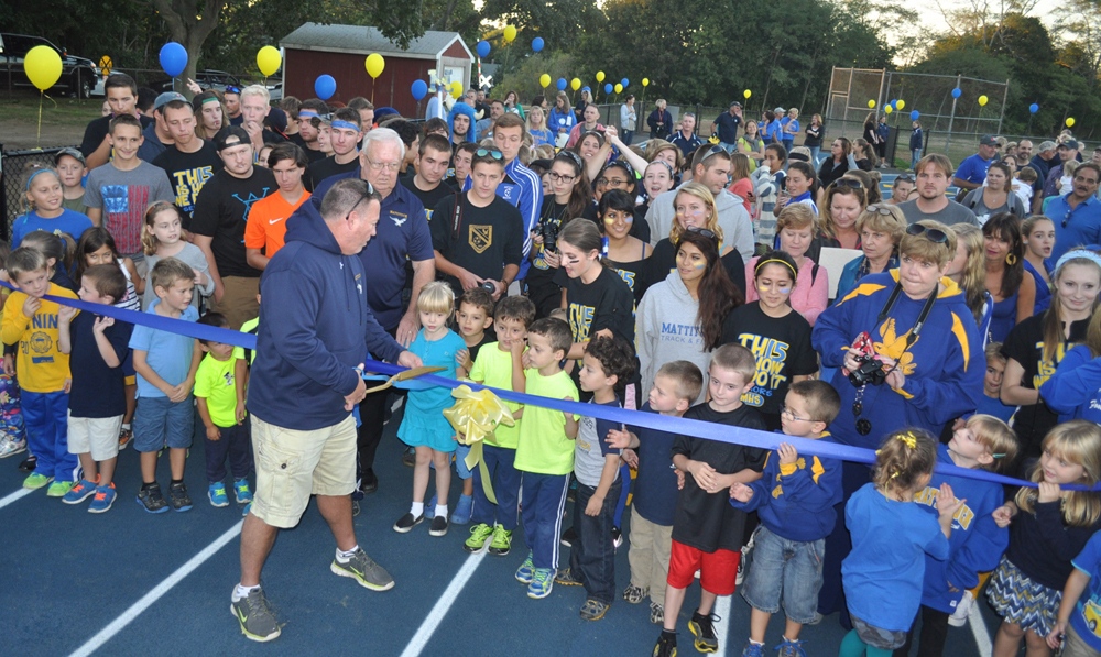Mattituck's new track is officially opened Sept. 26. (Credit: Grant Parpan)