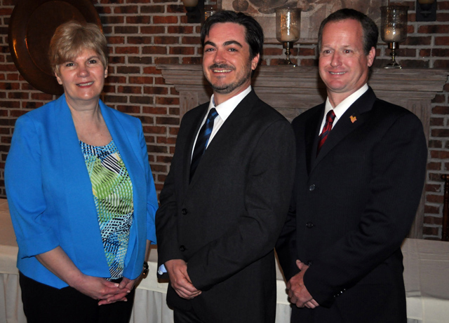 Southold Town Democratic Committee candidates (from left) Debbie O'Kane, Damon Rallis and Albie De Kerillis.
