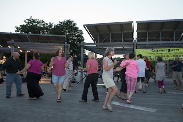Village sponsored activities such as Dances in the Park are not impacted by the ban on events in Mitchell Park.  (Credit: Katharine Schroeder File Photo)