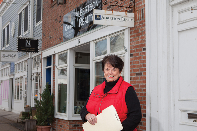 KATHARINE SCHROEDER PHOTODiane Dunbar outside her Greenport office.