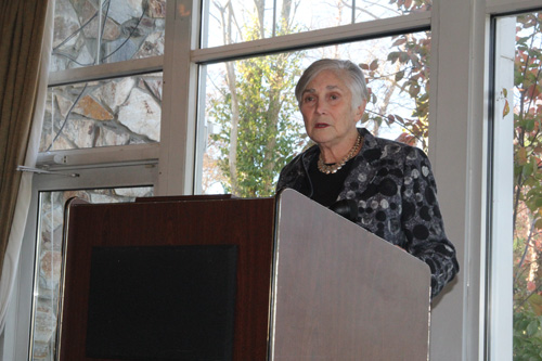 JENNIFER GUSTAVSON PHOTO | Diane Ravitch talking with Long Island educators in Hauppauge Tuesday morning.