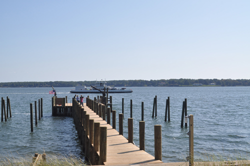 Widow's Hole Oysters' new dock opened up this past week in Greenport. (Credit: Joseph Pinciaro)