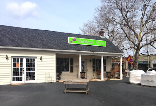 CYNDI MURRAY PHOTO | A new out door farmers market is hoping to open in the back of Mattituck Florist on May 9.