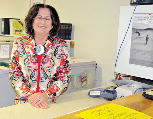 BETH YOUNG FILE PHOTO | Southold Town Clerk Betty Neville in 2011.
