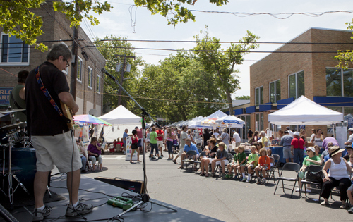 KATHARINE SCHROEDER PHOTO | Street fair revelers on Love Lane Saturday.