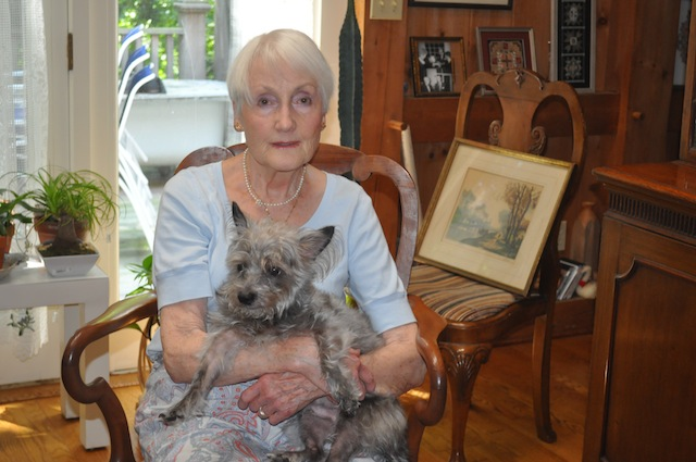 Marilyn Flynn, 84, with her rescue dog Alec. (Cyndi Murray photo)