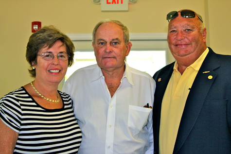 JENNIFER GUSTAVSON FILE PHOTO | Roy Morrow, center, with Sea Tow International founders Captain Joe and Georgia Frohnhoefer.