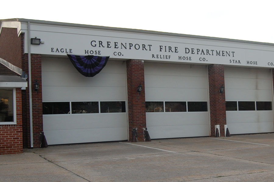 The Greenport Fire Department station on 3rd Street in Greenport Village. (Credit: Cyndi Murray)