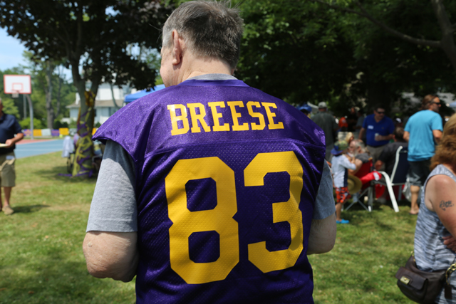 Tom Breese wore his No. 83 Porters uniform. (Credit: Joe Werkmeister)