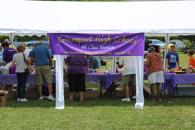 Greenport's all-class reunion was held at Herzog Park. (Credit: Joe Werkmeister)