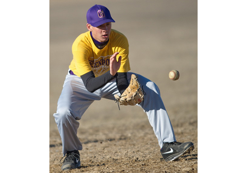 Brian Tuthill's return from a torn labrum is expected to help Greenport clean up its fielding. (Credit: Garret Meade)