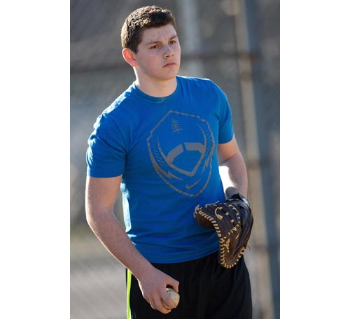 Greenport baseball player Keegan Syron 031016