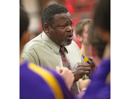 GARRET MEADE FILE PHOTO | Al Edwards, talking to his players during his last game as Greenport's coach, retired in May after 34 years of running the team.