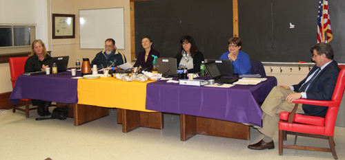 The Greenport school board held a budget workshop and its regular meeting Wednesday. (Credit: Carrie Miller)