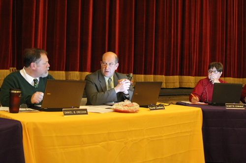 The Greenport school board at Thursday's meeting. (Credit: Jen Nuzzo)