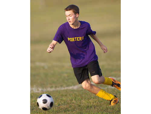 GARRET MEADE PHOTO | Greenport/Shelter Island's four-year varsity starter, Ryan Weingart, is admired and valued for his work ethic.