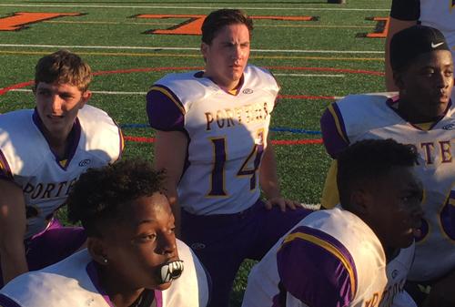 Greenport:Southold:Mattituck football player Gage Suglia 092616