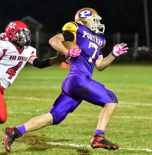 Greenport:Southold:Mattituck football player Keegan Syron 091716