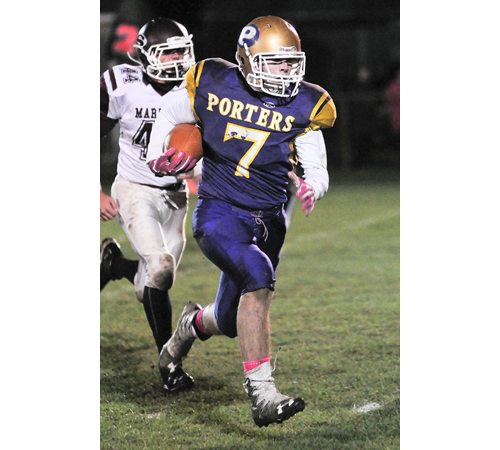 Greenport:Southold:Mattituck football player Keegan Syron 102916