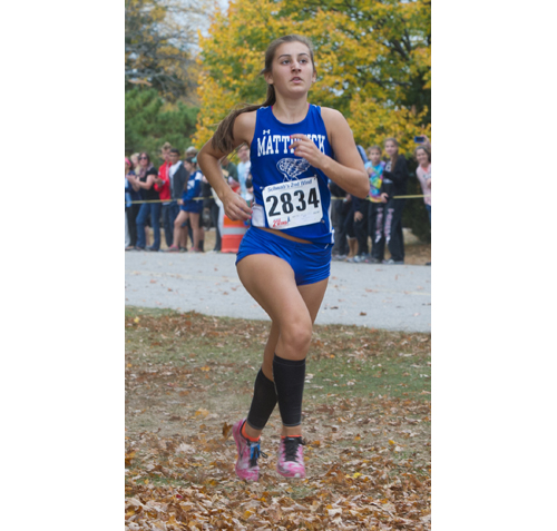ROBERT O'ROURK PHOTO  |  Mattituck sophomore Audrey Hoeg finished second for Mattituck Tuesday in the Section XI Division Championship.