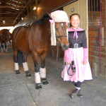 Kaia Rothman, 12, of Southold and her pony, Just in Time, took home third place honors.