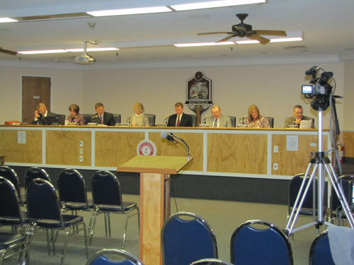 CYNDI MURRAY | Town leaders are looking to be able to tape more meetings in town hall with additional cameras they hope to obtain through negotiations with Cablevision.