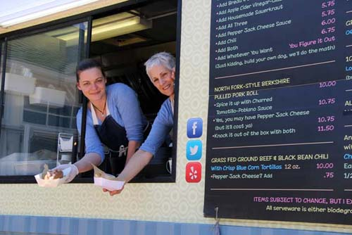 Cynthia Halloran and Claudia Fleming of North Fork Food Truck. (Credit: Carrie Miller)