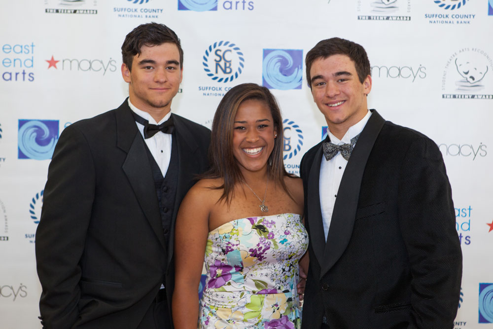 John Drinkwater, Isabelle Simon, and Matt Drinkwater of Greenport High School. (Credit: Katharine Schroeder)